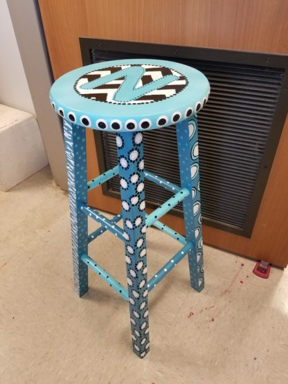 30″ Personalized Hand Painted Art Stool
