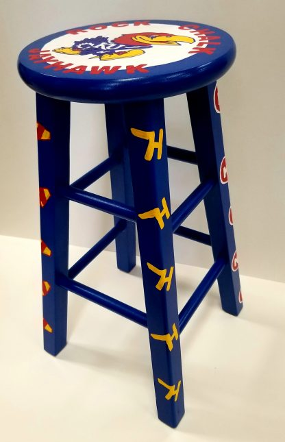 """24"""" Personalized Hand Painted Art Stool"""