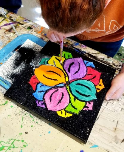 Canvas Glitter Painting Party (Advanced)