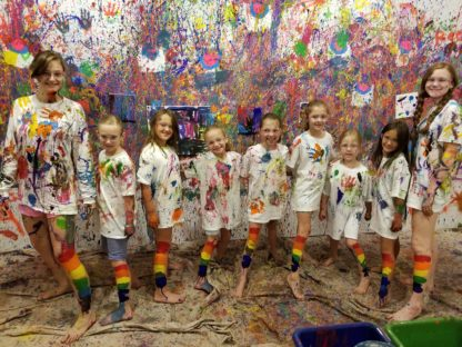 Splatter Painting Party
