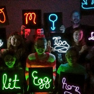 12 x 12 Neon Sign Birthday Party