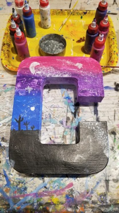 Galaxy Large Letter Painting Party