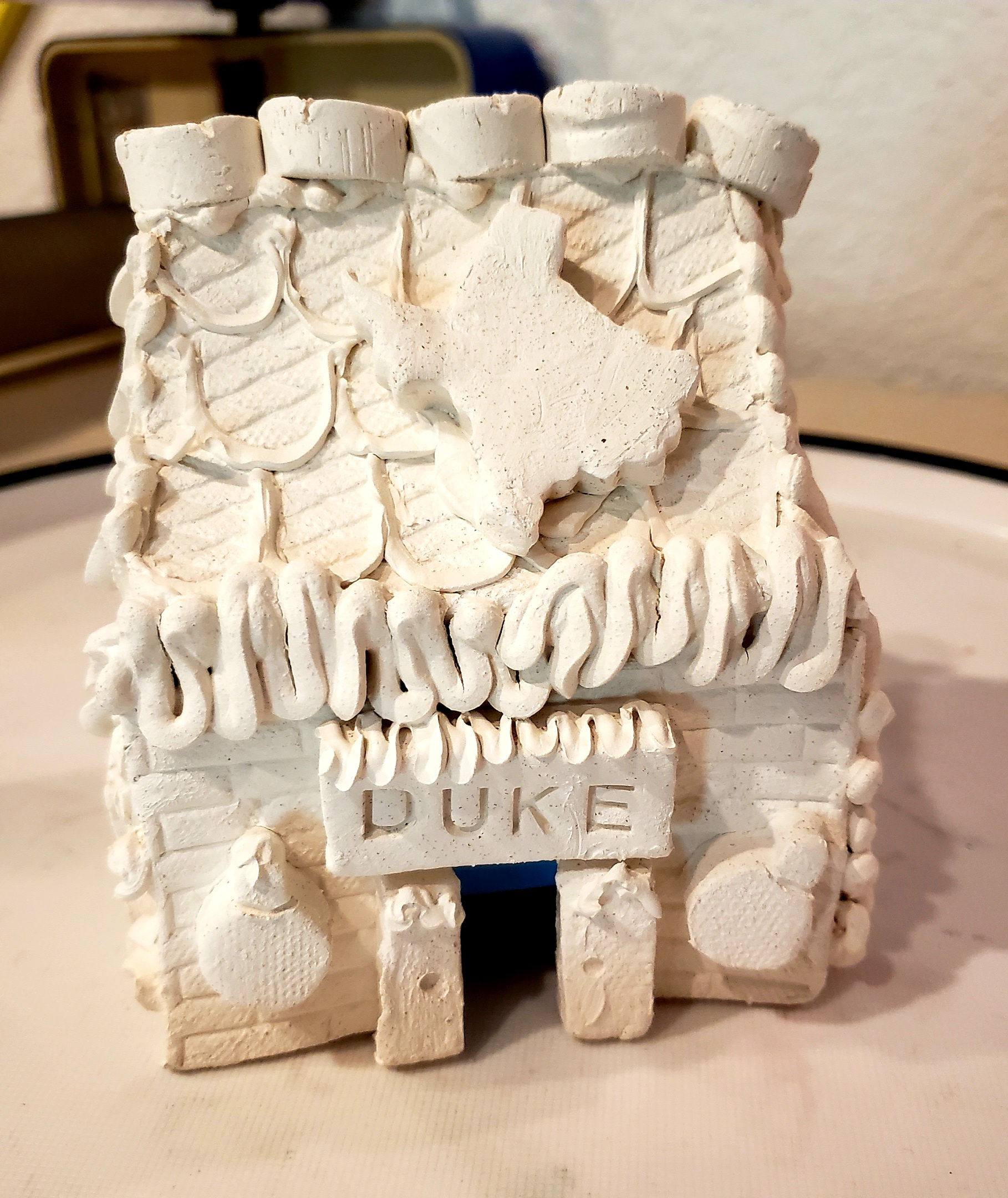 Personalized & Pre-Made, Unpainted Ceramic Gingerbread House