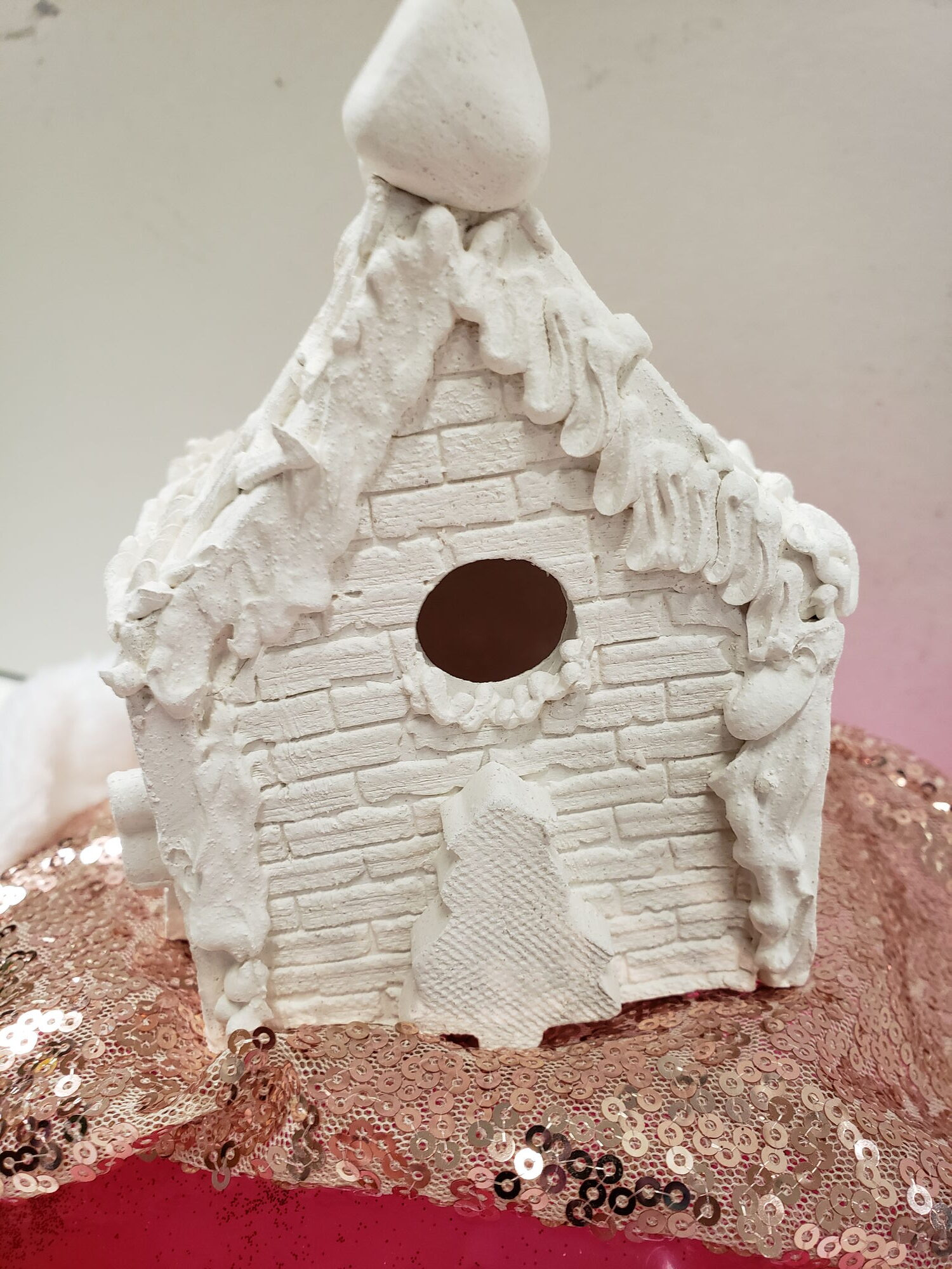 Pre-Made, Unpainted Ceramic Gingerbread House